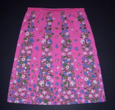 Even when it is a floral, Vested Gentress offers another twist--this time a riff perhaps on Pennsylvania Dutch motifs. Pink Blue Green Floral Flower Stripe Print Skirt 14
