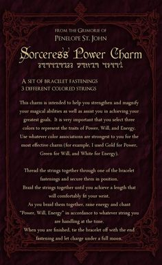 The Sorceress Power Charm will help magnify your magic and also help you to achieve your greater goals. Magick Spells, Wicca Witchcraft, Luck Spells, Moon Spells, Healing Spells, Witch Spell, Pagan Witch, Voodoo, Mystical World