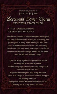 ゝ。Sorceress Power Charm.。