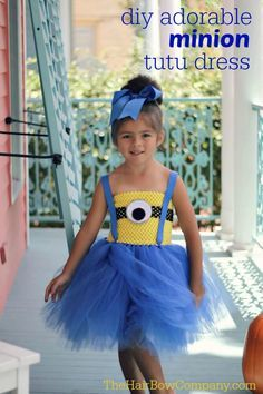 Minion Tutu Dress with tutorial  and supply list on THE HAIR BOW CO website