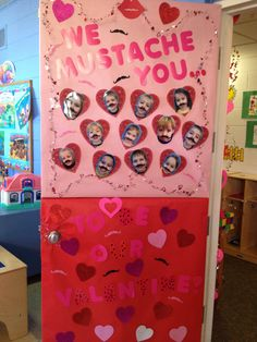 Valentine Door Decorations Ideas to spread the seasons greetings - Hike n Dip With Door Decorating Contest Winners Pictures Valentine S Day Valentines Day Decor Classroom, Valentines Day Bulletin Board, Valentine Decorations, Valentines Diy, Classroom Ideas, Thanksgiving Classroom Door, Classroom Window, Classroom Board, Future Classroom