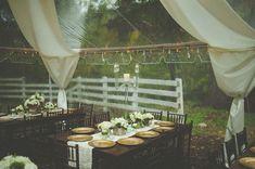 inspiration | backyard barn wedding | via: green wedding shoes