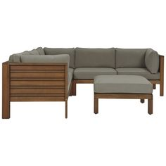 Portsea 4 Piece Sofa Package Natural would love this on my deck