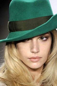 I WANT THIS GREEN HAT NOW ~ Fedora in Green