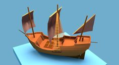 """Check out my @Behance project: """"Low poly pirate ship""""…"""