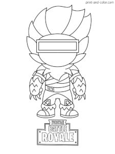 Free Durr Burger Chibi Skin Fortnite Coloring Page For