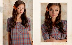 plaid and bows so cute. from ruche. bow $12 and dress is $122
