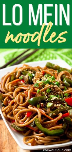 In mere minutes, you'll be dishing up unbelievable flavor with this 20-Minute Lo Mein. Pair it with your favorite protein for the ultimate weeknight meal. #lomein #lomeinnoodles #easymealprep #mealprep Creamy Pasta Recipes, Vegetarian Pasta Recipes, Chicken Pasta Recipes, Easy Healthy Recipes, Vegetable Recipes, Easy Dinner Recipes, Asian Recipes, Asian Foods, Noodle Recipes