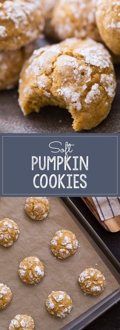 The softest, fluffiest, most tender pumpkin cookie I have ever tasted! Melts in your mouth! The softest, fluffiest, most tender pumpkin cookie I have ever tasted! Melts in your mouth! Just Desserts, Delicious Desserts, Dessert Recipes, Yummy Food, Health Desserts, Recipes Dinner, Soft Pumpkin Cookies, Pumpkin Dessert, Pumpkin Pumpkin