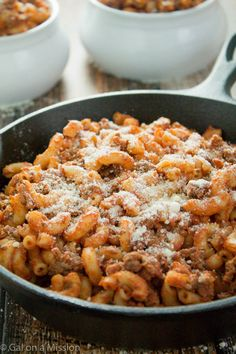 An easy and delicious Homemade Beefaroni Recipe on galonamission.com