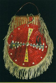 Siux quilled bag , inches wide by inches long. Native American Ancestry, Native American Design, Native American Beadwork, American Indian Art, Native American Indians, Native Americans, Native Indian, Native Art, Powwow Beadwork
