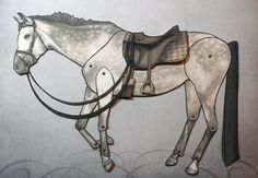 Victorian Horse Riding Paper Doll  Jointed by FiveAndNineteen