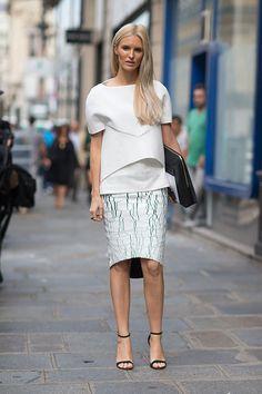 Street Style: Paris Fashion Week Spring 2014 - Kate Davidson Hudson in Balenciaga