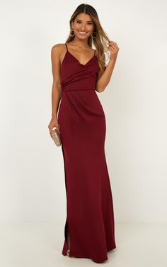 9d530dfd4ce Linking Love Maxi Dress In Wine Produced By SHOWPO
