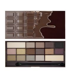 Makeup Revolution Too Faced Dupe I Heart Chocolate Bar Eyeshadow Palette for sale online Makeup Revolution Palette, Makeup Revolution London, Revolution Eyeshadow, Dupe Makeup, Makeup Eyeshadow Palette, Makeup Kit, I Heart Chocolate Palette, Chocolate Eyeshadow Palette, Make Up Palette