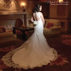 603fa931d122 We absolutely love this photo of beautiful real bride Sarah wearing our  sensationally elegant 'Mimosa