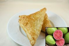 Guava Turnovers. Guava cheese filling in a delicious flaky dough. Immensely tasty and very much a top seller! Better than Florida's popular guava pastry. Made by & sold at Alima's Roti and Pastry 13 Kenview Blvd Brampton ONT Canada 905 791 7684