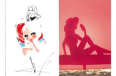 """Illustration and drawn letters for """"Dior Addict 'eau delice' PR Book(PRブック イラスト&描き文字)"""