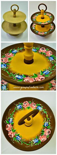 Atelier Gina Pafiadache: Feito em aula: Fruteira em Bauernmalerei