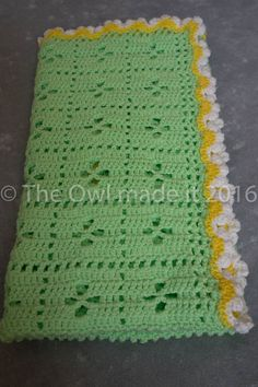 Crochet baby blanket, baby girl blanket, cot blanket, crib blanket, baby shower gift by TheOwlmadeit on Etsy