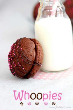 Whoopies No Bake Cookies, Baking Cookies, Glass Of Milk, Tiramisu, Panna Cotta, Chocolate, Sweet, Ethnic Recipes, Desserts