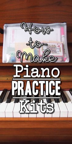Piano practice gameification with practice kits