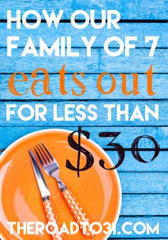 This is how we eat out at restaurants regularly on the cheap. Here are my BEST 10 Tips and actual restaurant names with what we buy and price list - great for large families!