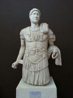 Statue of the emperor Hadrian. Roman period 117-138 A.D. Troia / Gallipoli- Gelibolu/ Çanakkale- TURKEY