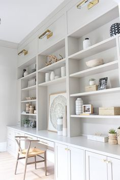 All The Paint Colors In Our Home - The House of Silver Lining SW agreeable gray. All The Paint Colors In Our Home - The House of Silver Lining Office Built Ins, Built In Desk, Built In Cabinets, Ikea Built In, Home Office Space, Home Office Design, Home Office Decor, Home Office Colors, Office Style