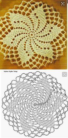 Resultado de imagen para ,mas imagenescaminos de mesa a crochet en colores. - Salvabrani Crochet Dollies, Crochet Art, Thread Crochet, Crochet Crafts, Crochet Stitches, Crochet Flowers, Crochet Coaster, Crochet Motif Patterns, Crochet Doily Diagram
