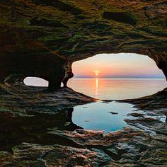 Kenneth Keifer / 500px Secluded Sea Cave Sundown