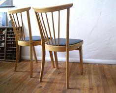 2 x Sprossenstuhl 50er / 60er Jahre