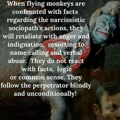 It's so sad! It has been so painful for my daughters to have the flying monkeys they know throw them under the bus when they disclosed the abuse they'd been through. I've dealt with it as well. Enabling prevents healing. Period. You just have to walk away and focus on people who have a desire to be healthy!