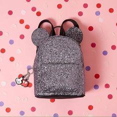 Primark Disney Mickey Mouse Ears Glitter Rucksack Backpack Ladies Girls Bag   eBay