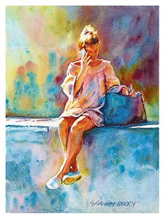 "Wall talk by Graham Berry Watercolor ~ 11"" x 9"""