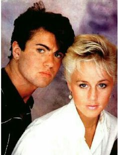 George Michael and Shirley Holliman.  Repinned by Tiffany Says Hop Into My DeLorean (1)