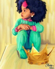 It all starts at home. Artwork by: Black Love Art, Black Girl Art, My Black Is Beautiful, Black Girls Rock, Art Girl, Black Child, Black Art Pictures, Natural Hair Art, Black Artwork
