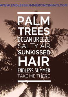 When the beach is not close enough! Airbrush Tanning, Cincinnati, Palm Trees, Ocean, Beach, Summer, Palm Plants, Summer Time, The Beach