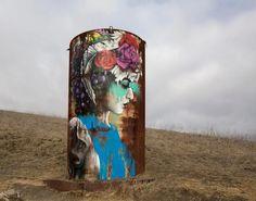 Foto: Souzaste, #StreetArt de Fin Dac en la costa de California.
