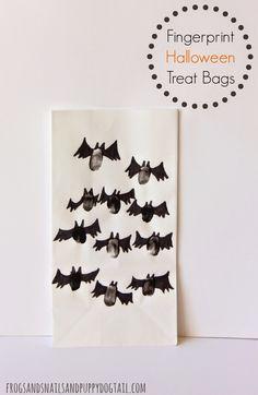 Fingerprint Halloween Treat Bags on FSPDT