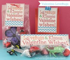 Love Bugs and Kisses Valentine Printable
