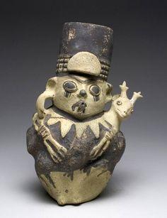 Chamán con venado en el hombro de la Cultura de Chancay, Perú | Arte Prehispánico, Precolombino