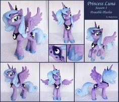 Princess Luna Season 1 Plushie by MakeItSew.deviantart.com on @deviantART