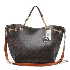 Cheap Michael Kors Chain Large Coffee Totes, Perfect You
