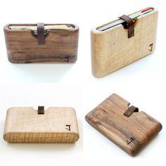 carteras Slim Timber:están hechas a mano y de una sola pieza de madera.