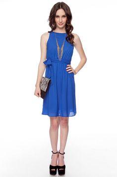 royal blue dress - tobi