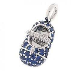 Aaron Basha Sapphire Baby Shoe with Diamond Strap