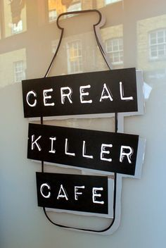 For the breakfast enthusiasts: Cereal Killer Cafe, Shoreditch in London.