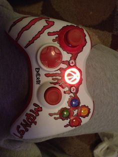 custom decal and LED's for the guide and status ring on the xbox 360 controller