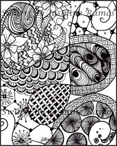 Zentangled Swurrl Giclee Print of Pen and Ink Drawing by Swurrl, $12.00